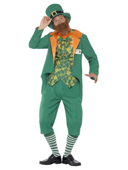 Men's Plus Size Sheamus Craic Costume with Jacket, Mock Waistcoat - The Halloween Spot
