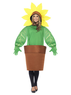 Smiffy's Sunflower Costume with Top with Attached Hood