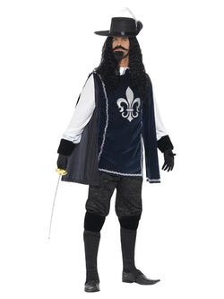 Men's Musketeer Male Costume, with Top, Hat - The Halloween Spot