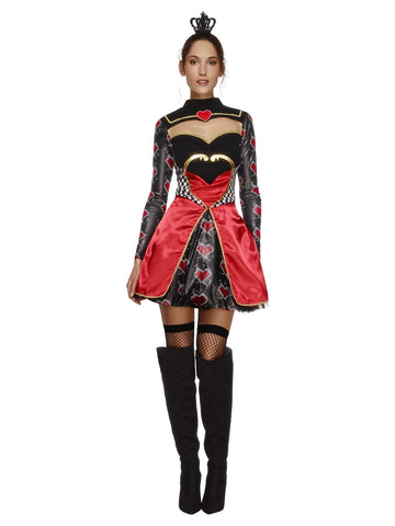 Women's Fever Queen Of Hearts Costume, with Dress