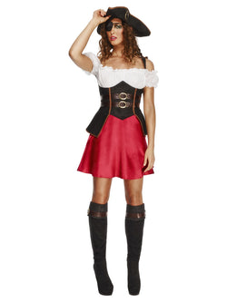 Women's Fever Pirate Wench Costume, with Dress