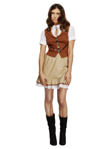 Women's Fever Sheriff Costume, with Waistcoat