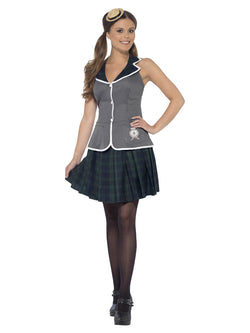 Women's Grey Colour Prefect Costume