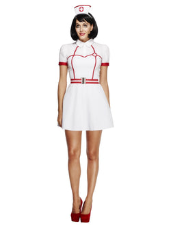 Women's Fever Bed Side Nurse Costume, with Dress