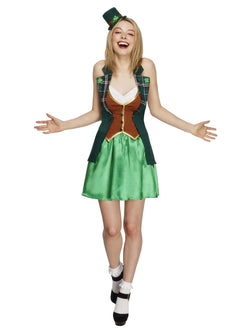 Women's Fever St Patricks Costume, with Jacket - The Halloween Spot