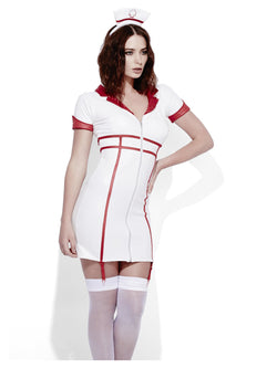 Women's Fever Role-Play Nurse Wet Look Costume