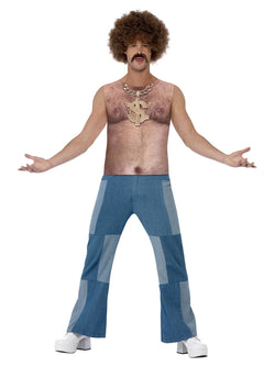 Men's Realistic 70s Hairy Chest, Sleeveless Top - The Halloween Spot