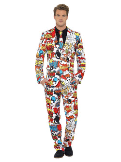 Men's Comic Strip Suit