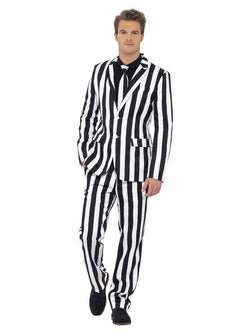 Men's Black and White Humbug Suit