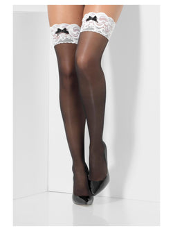 Black French Maid Hold-Ups
