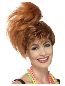 Smiffy's 80's Side Ponytail Wig with Fringe
