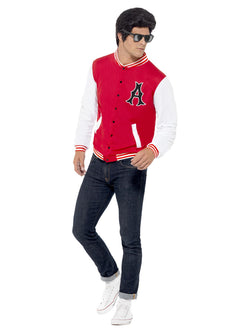Men's 50s College Jock Letterman Jacket - The Halloween Spot