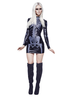 Women's Fever Miss Whiplash Skeleton Costume