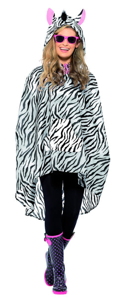 Smiffy's Zebra Party Poncho