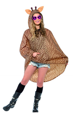 Brown coloured Giraffe Party Poncho