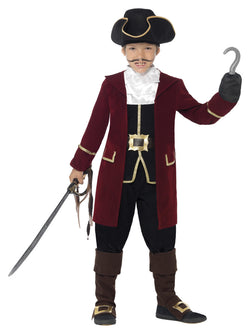 Boy's Deluxe Pirate Captain Costume, with Jacket - The Halloween Spot