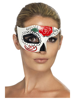 Day of the Dead Half Eye Mask - The Halloween Spot