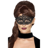 Embroidered Lace Filigree Eyemask