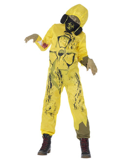 Toxic Waste Costume, Yellow, with Jumpsuit & Gas Mask