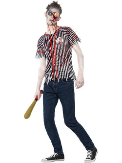 Men's Zombie Baseball Player Costume - The Halloween Spot