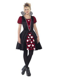 Women's Deluxe Dark Red Queen Costume