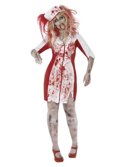 Women's Plus Size Curves Zombie Nurse Costume - The Halloween Spot