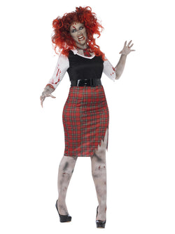 Women's Plus Size Curves Zombie School Girl Costume - The Halloween Spot