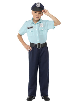 Blue coloured Boys Police Officer Costume