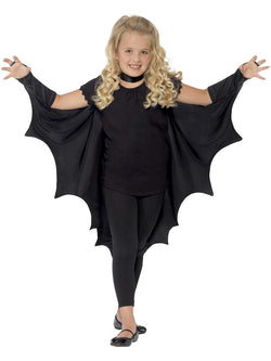 Kids Vampire Bat Wings in black