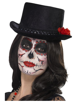 Day of the Dead Black Top Hat