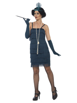 Plus Size 1920's Flapper Teal Green Costume