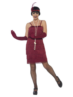 Burgundy Red 1920's Razzle Flapper Costume