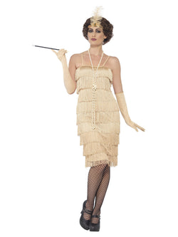 Ladies 1920's Flapper Gold Costume