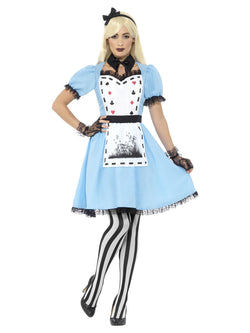 Deluxe Dark Tea Party Blue Costume