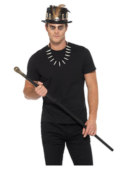 Adult Voodoo Kit, with Feather Top Hat - The Halloween Spot
