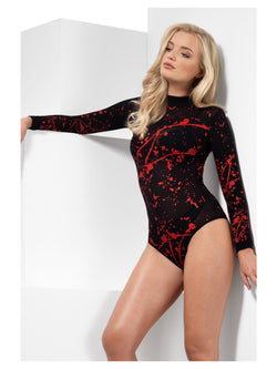 Women's Opaque Bloody Bodysuit - The Halloween Spot