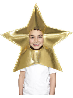 Kids Unisex Gold Christmas Star Headpiece