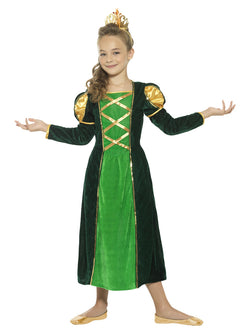 Kid's Medieval Princess Green Costume