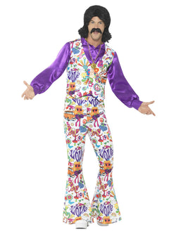 Men's 1960s Groovy Hippie Costume - The Halloween Spot