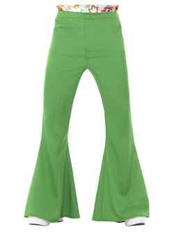 Green 1960s Flared Trousers, Mens - The Halloween Spot