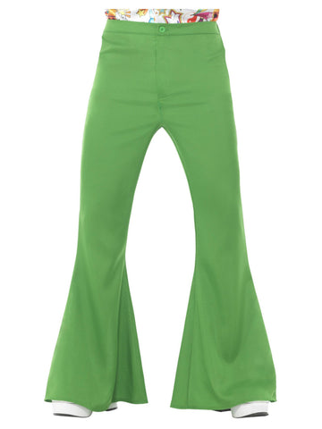Green 1960s Flared Trousers, Mens
