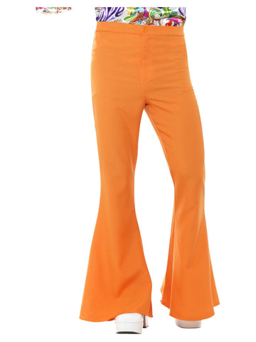 Orange Flared Trousers for Men