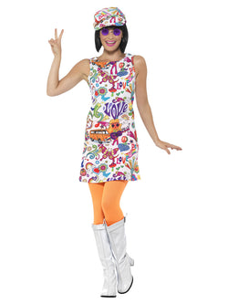 Plus Size 1960's Groovy Chick Costume - The Halloween Spot