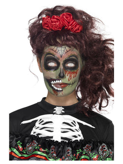 Multi-coloured Day of the Dead Zombie Make-Up Kit