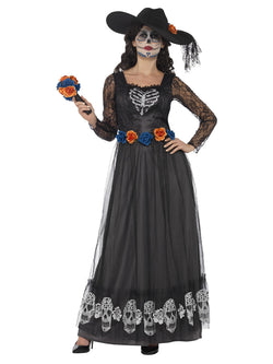 Women's Day of the Dead Skeleton Bride Costume Black - The Halloween Spot