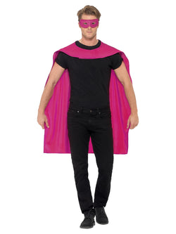Pink Cape With Eye Mask