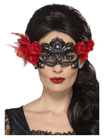 Day of the Dead Lace Filigree Eyemask