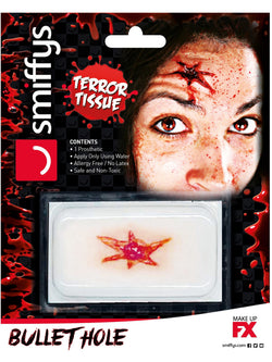 Smiffys Make-Up FX, Horror Transfer, Bullet Hole