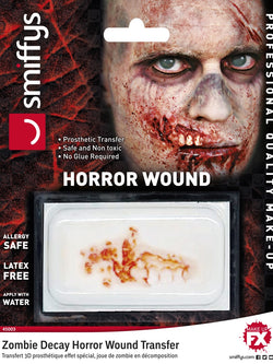Horror Wound Transfer, Zombie Decay - The Halloween Spot