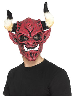 Multi-coloured foam latex Devil Mask